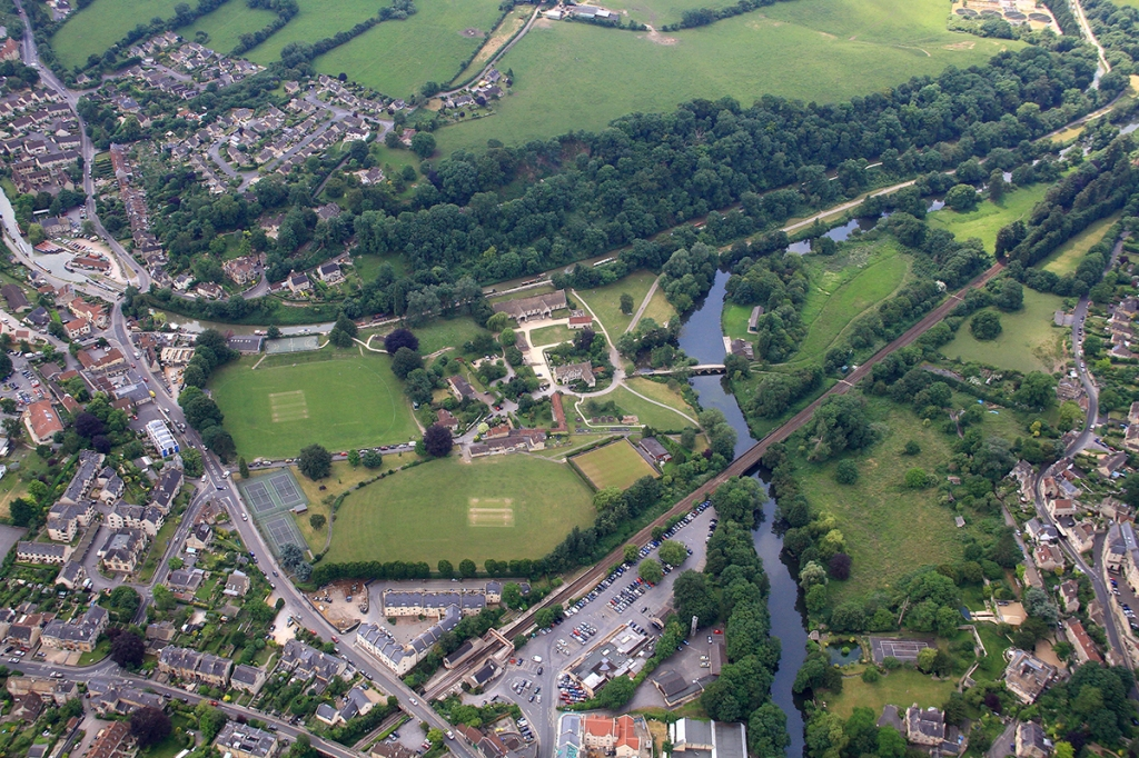 aerial view of barton farm