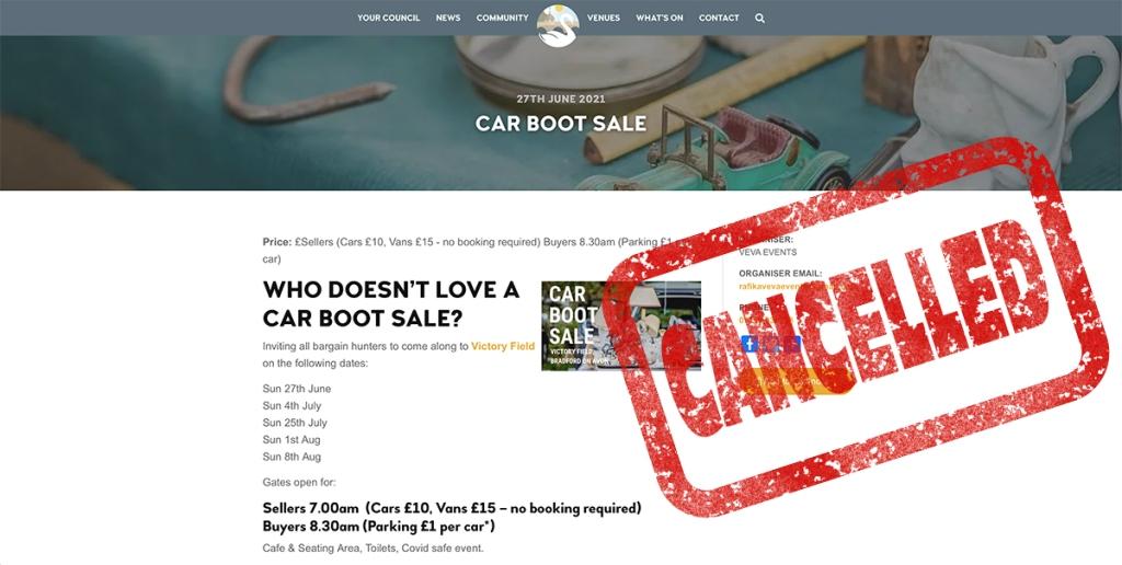 serenarts gallery victory field car boot sale