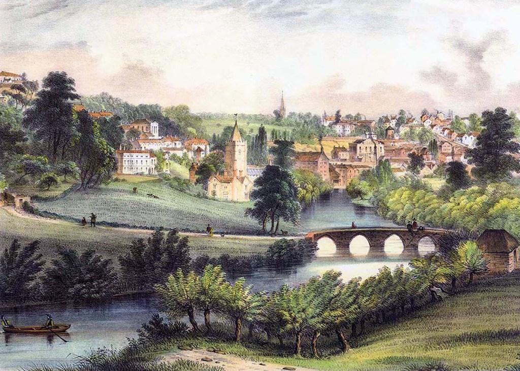 serenarts gallery _ A View of Bradford from barton bridge bridge Jarrett